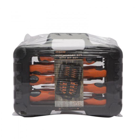 58 db-os csavarhúzó készlet táskában 10742