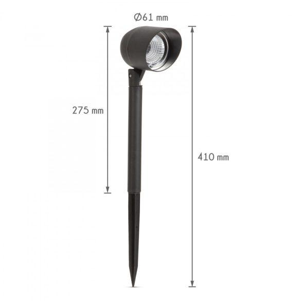 LED-es szolár lámpa fényvetővel - fekete - 410 mm11251