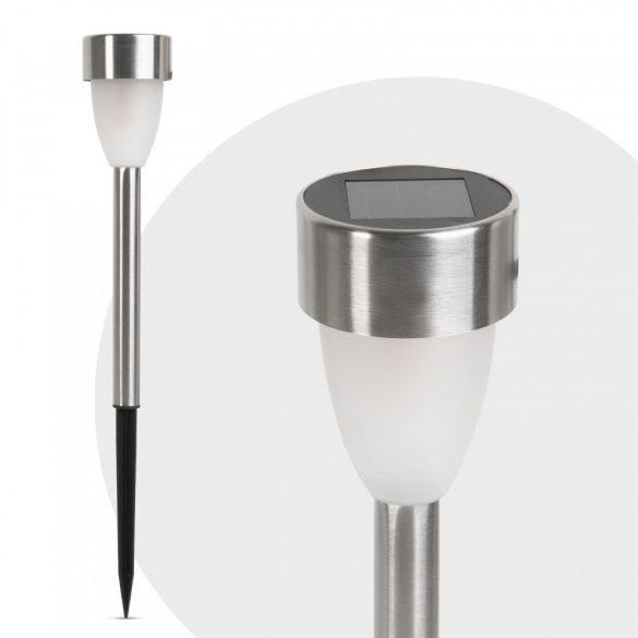 LED-es szolár lámpa - leszúrható - hidegfehér, fém - 370 mm11259