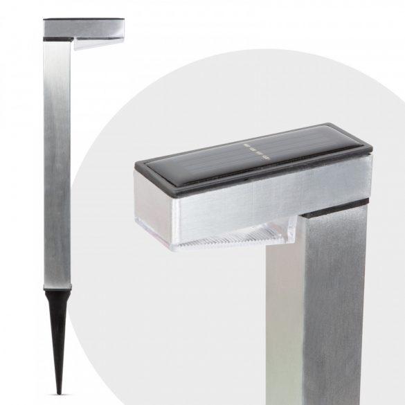 LED-es szolár lámpa - hidegfehér - szálcsiszolt - fém11264