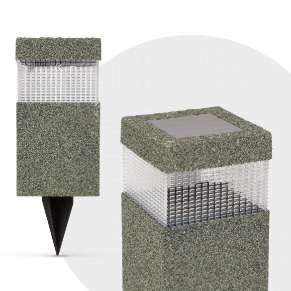 LED-es szolár lámpa - kőmintás - műanyag11266