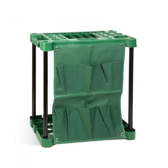 Műanyag kerti szerszámtartó - falra szerelhető - 58 x 31 x 60 cm  11328