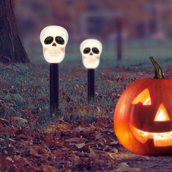 Led-es szolár lámpa - halloween - koponya  11374F