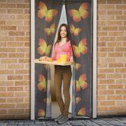 Szúnyogháló függöny ajtóra pillangós  11398C