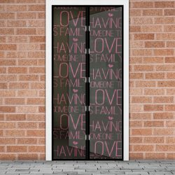 """Szúnyogháló ajtóra """"love"""" felirat 11398M"""