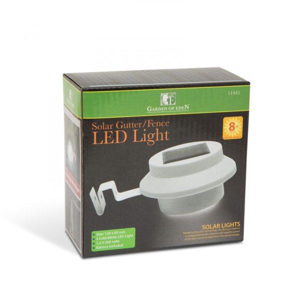 Szolár ereszcsatorna / kerítés fény 3 LED-del - fehér11445