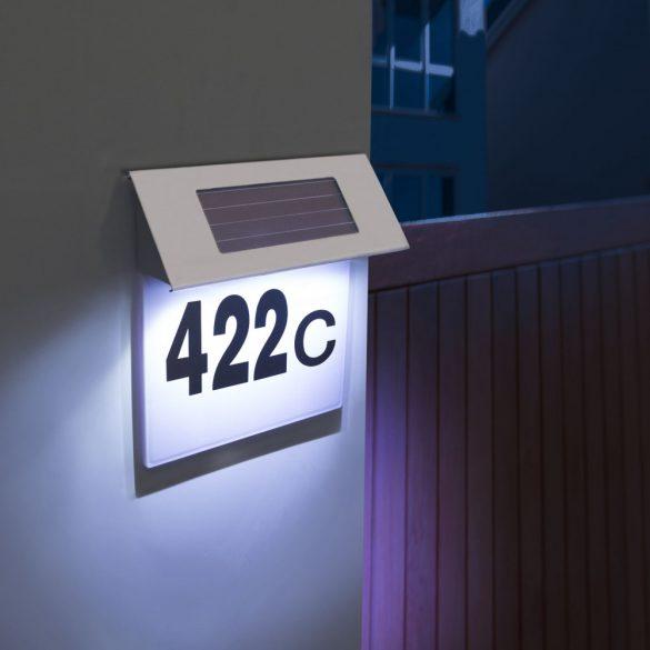 Szolár házszámfény rozsdamentes acélból - 18 x 20 cm11446B