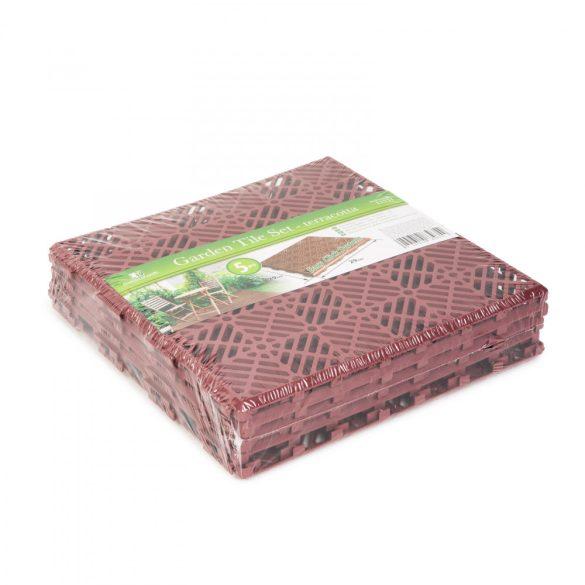Kerti járólap - műanyag - terrakotta - 5 db / csomag  11531