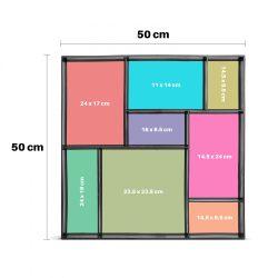 Műanyag térkősablon - 50 x 50 x 4,5 cm  11534B