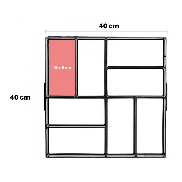 Műanyag térkősablon - 40 x 40 x 4 cm  11534C