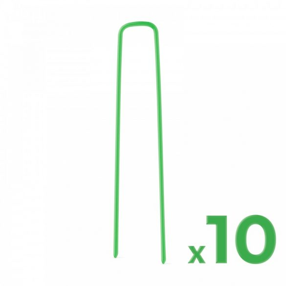 Leszúró tüske műfűhöz - fém - zöld - 3 x 15 cm - 10 db / csomag 11789