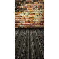 Vinyl háttér fotózáshoz.Tégla falat ábrázoló fotó háttér 150cm x 210cm 16-369