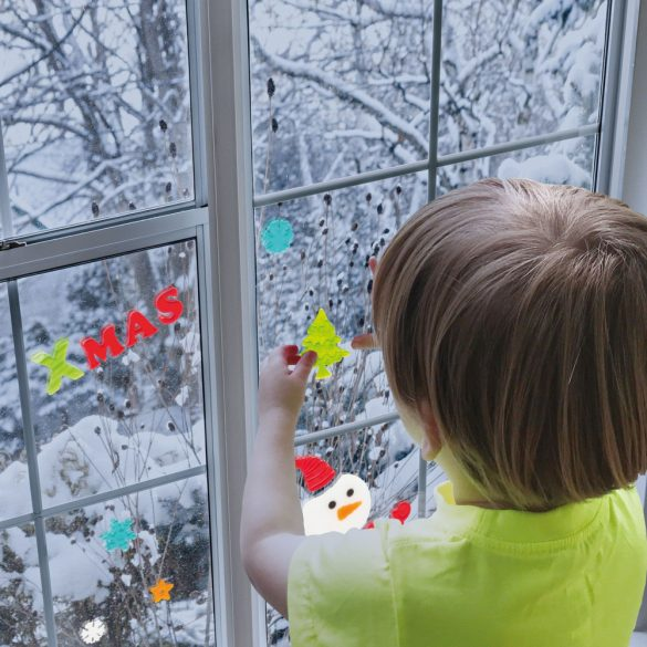Zselés ablakdekor - karácsonyi 55204C