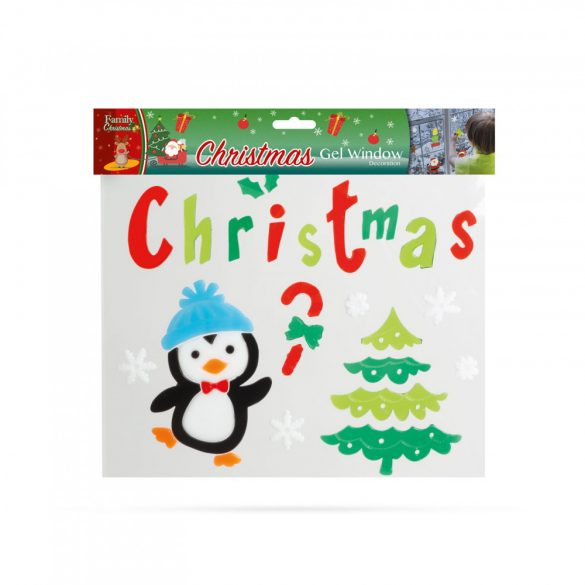Zselés ablakdekor - karácsonyi - XXL  55204X