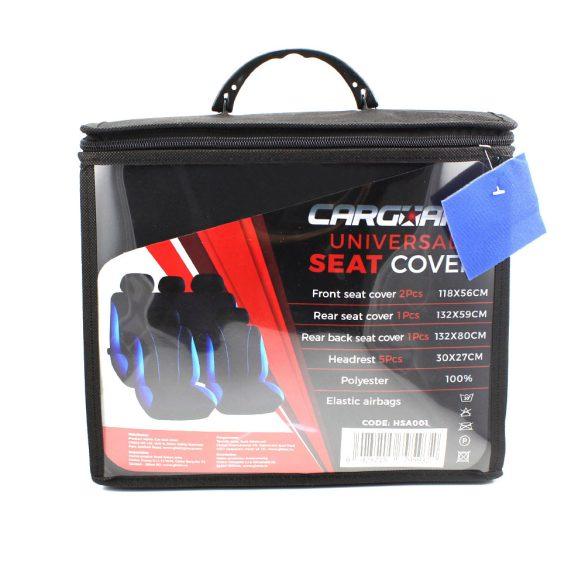 Autós üléshuzat szett - kék / fekete - 9 db-os - HSA001  55670BL