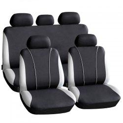 Autós üléshuzat szett - szürke / fekete - 9 db-os - HSA003  55670GY