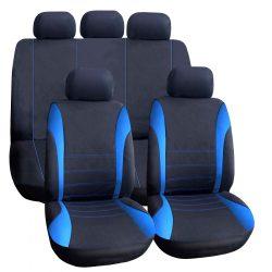 Autós üléshuzat szett - kék / fekete - 9 db-os - HSA006  55671BL