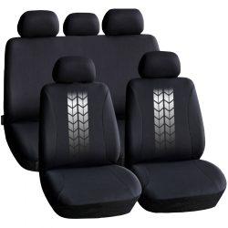 Autós üléshuzat szett - szürke / fekete - 9 db-os - HSA004  55672GY