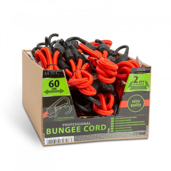 Professzionális gumipók szett - piros - 60 cm x 8 mm - 2 db / csomag  55761B