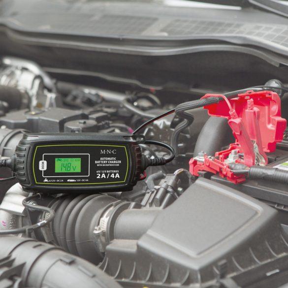 Autós akkumulátor töltő - 230 V - 2 A / 4 A - automata  55784C