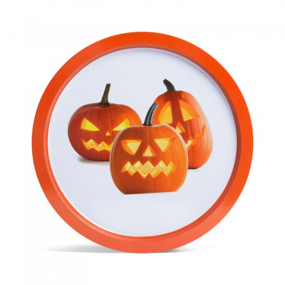 Halloween-i tálca - tök - fém - 31 cm  55932R