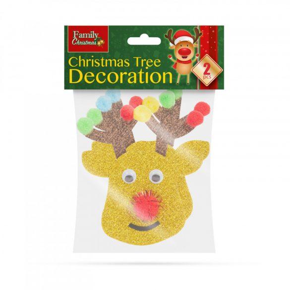 Karácsonyfadísz szett - rénszarvas - 2 db / csomag  55981A
