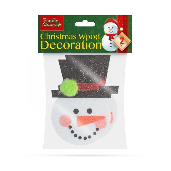 Karácsonyfadísz szett - hóember - 2 db / csomag  55981B