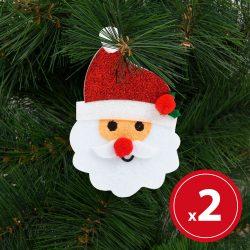 Karácsonyfadísz szett - mikulás - 2 db / csomag  55981C