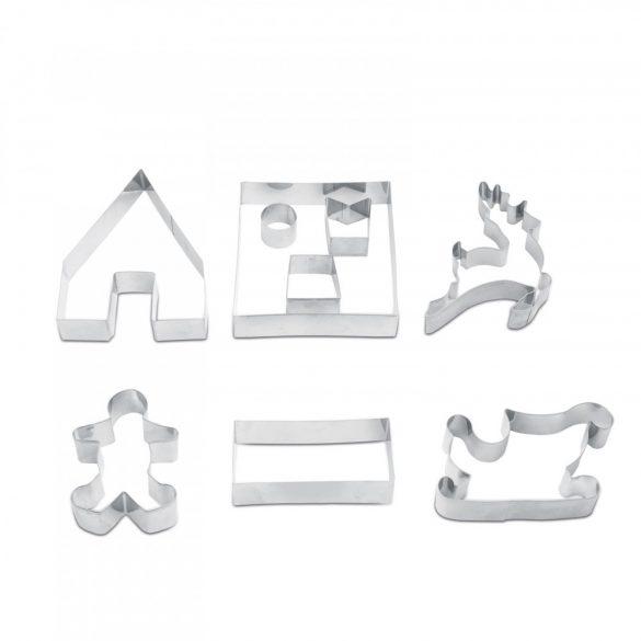 Sütikiszúró forma - 3D mézeskalács házikó  55990C