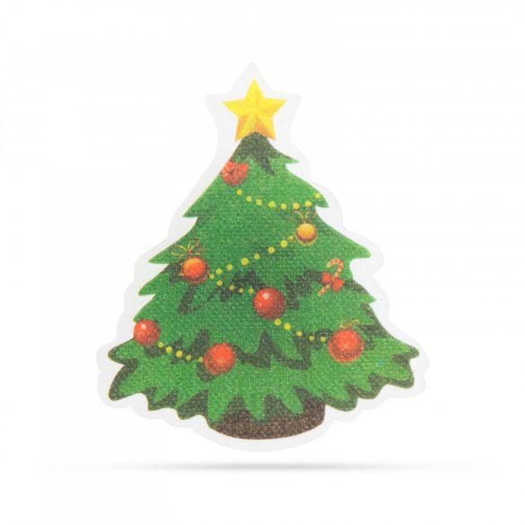 Karácsonyi RGB LED dekor - öntapadós - fenyőfa  56513A