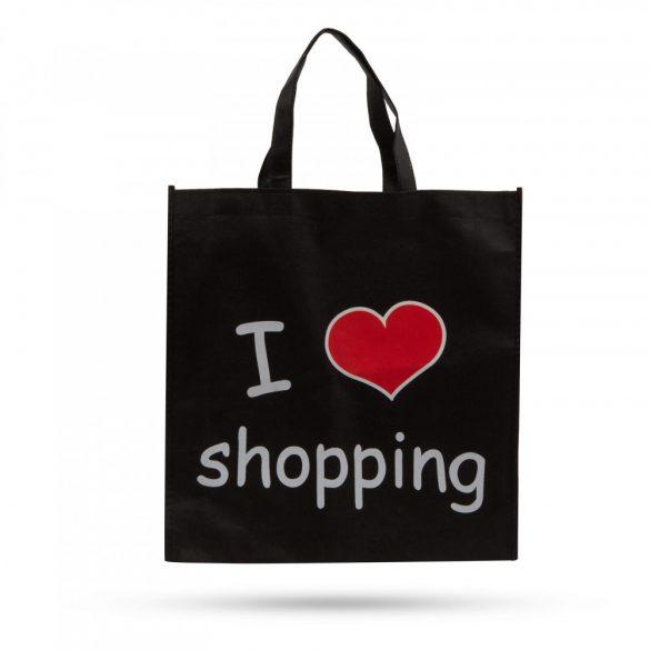 """Bevásárlótáska - """"I love shopping"""" - 40 x 40 cm 57033B"""