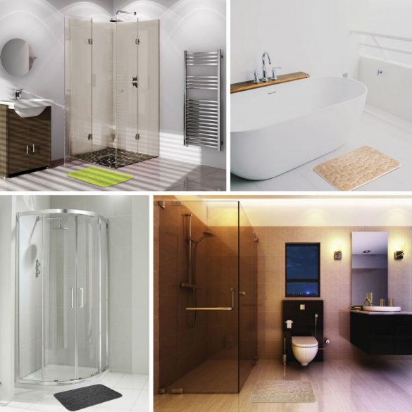 Fürdőszobai kilépőszőnyeg (világosbarna) 57158B