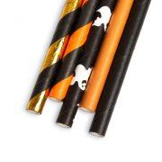 Papír szívószál - Halloween - 197 x 6 mm - 25 db / csomag  57159F