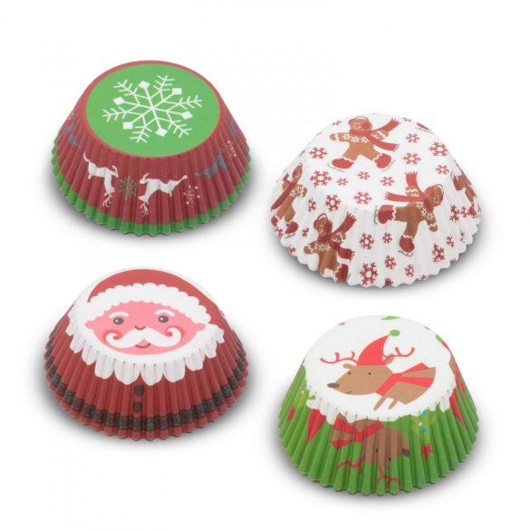 Muffin papír szett - karácsonyi - 100 db / csomag 57168X