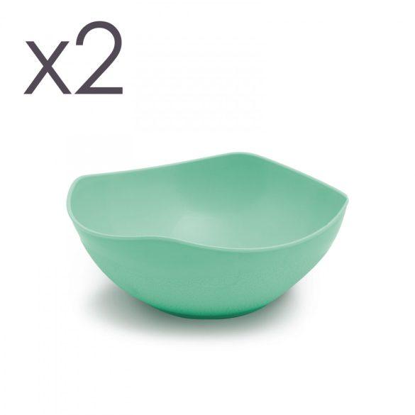 Műanyag tál - 14 cm - 3 színben - 2 db / csomag 57272B