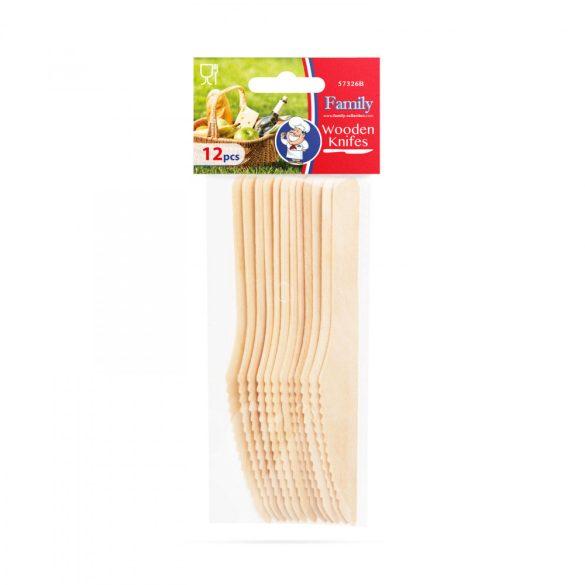 Fa evőeszköz készlet - kés - 12 db / csomag 57326B