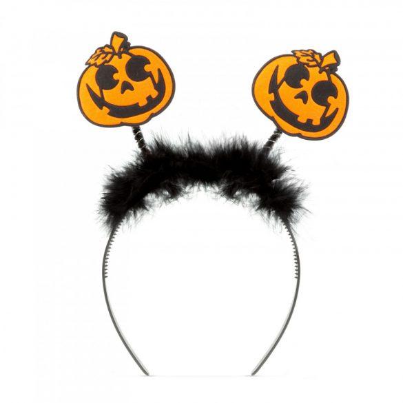 Halloween-i hajráf - rugós - tök  58020E