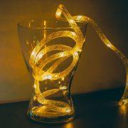 Karácsonyi fényfüzér - melegfehér / ezüst szállal - 2 m - 2 x AA  58032A