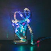 Karácsonyi fényfüzér - multicolor / ezüst szállal - 2 m - 2 x AA  58032B