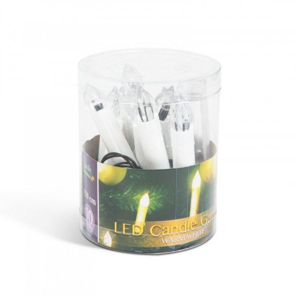 Karácsonyi LED gyertyafüzér - melegfehér - 10 LED - 2 x AA  58037A