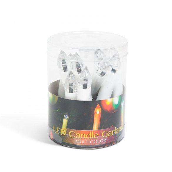 Karácsonyi LED gyertyafüzér - Multicolor - 10 LED - 2 x AA  58037B