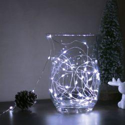 Karácsonyi LED fényfüzér - 5 m - 50 LED - hidegfehér - 3 x AA  58041C