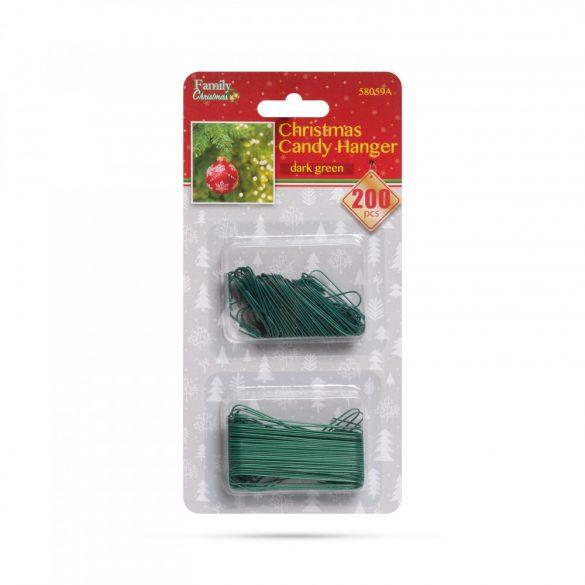 Szaloncukor akasztó - sötétzöld - 200 db / csomag  58059A