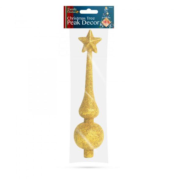 Karácsonyfa csúcsdísz - 18,5 cm - arany  58062A