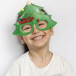 Party szemüveg - Karácsonyfa mintával  58083A