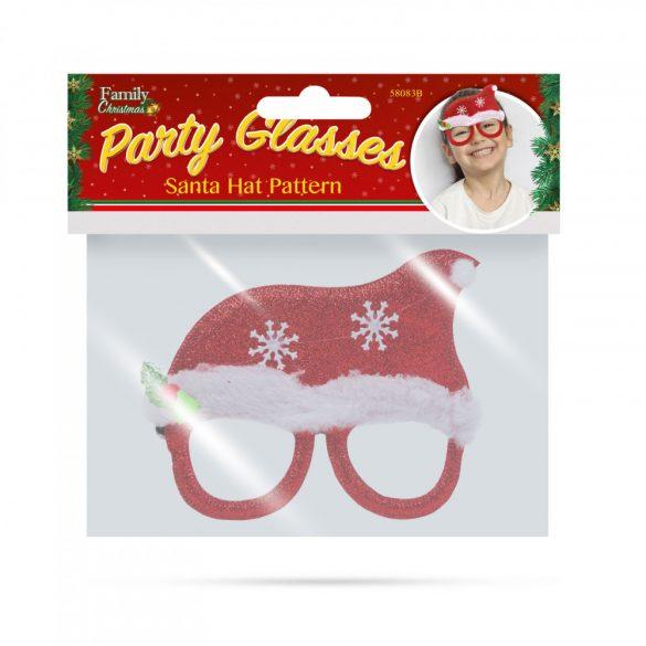 Party szemüveg - Mikulás sapka mintával  58083B