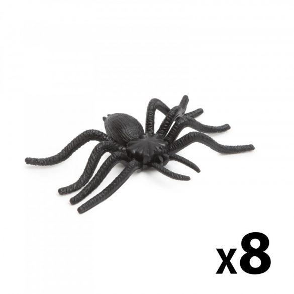 Pók szett - halloween-i dekoráció - fekete - 8 db / csomag  58103B