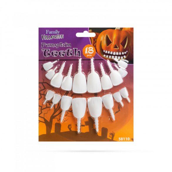 Halloween-i töklámpás fogak - 18 fog / csomag  58110
