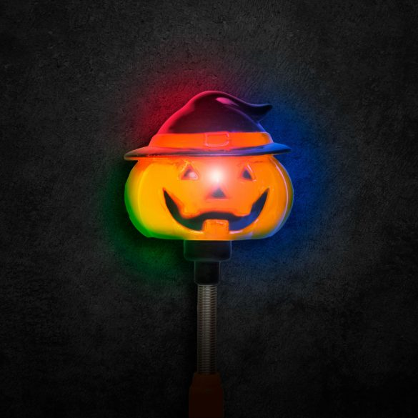 Halloween-i LED lámpa - rugós tök - elemes  58112A
