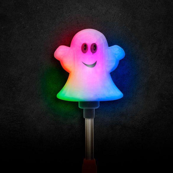 Halloween-i LED lámpa - rugós szellem - elemes  58112B